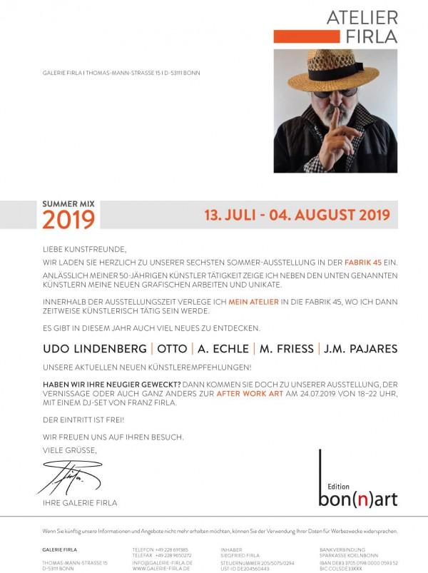 Sommerausstellung der Galerie Firla in der Fabrik 45