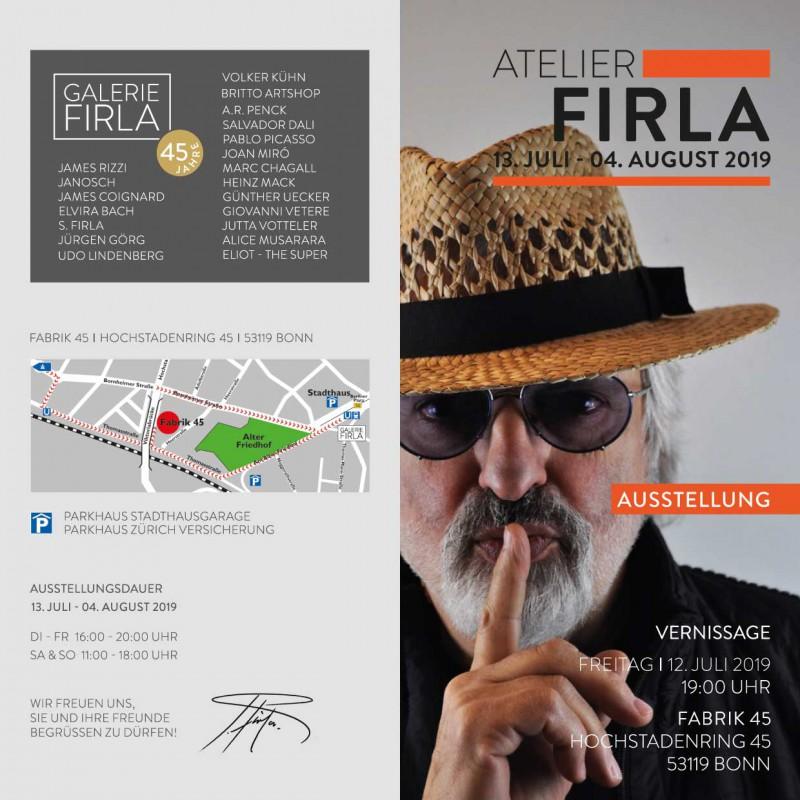 Sommerausstellung in der Fabrik 45 vom 13. Juli bis 04. August 2019